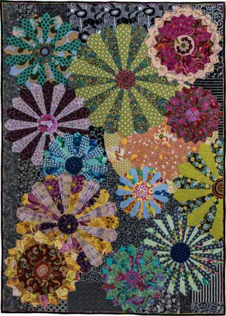 Flower Plates dresden quilt by Candy Grisham